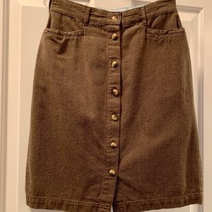 Gloria Vanderbilt Button Front Skirt